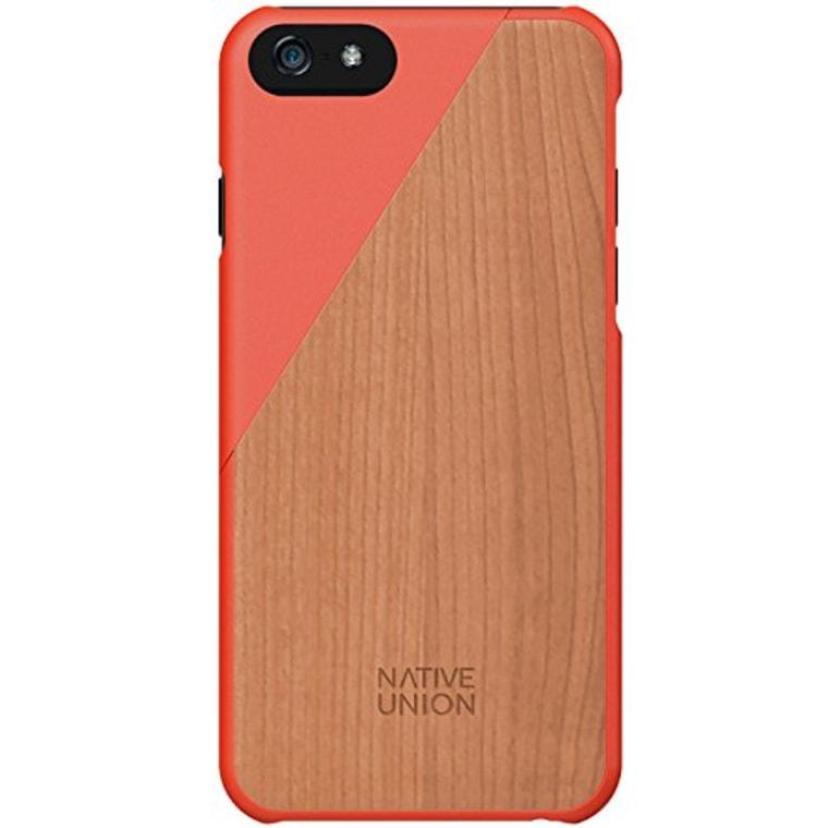 Wooden iphone case in pink
