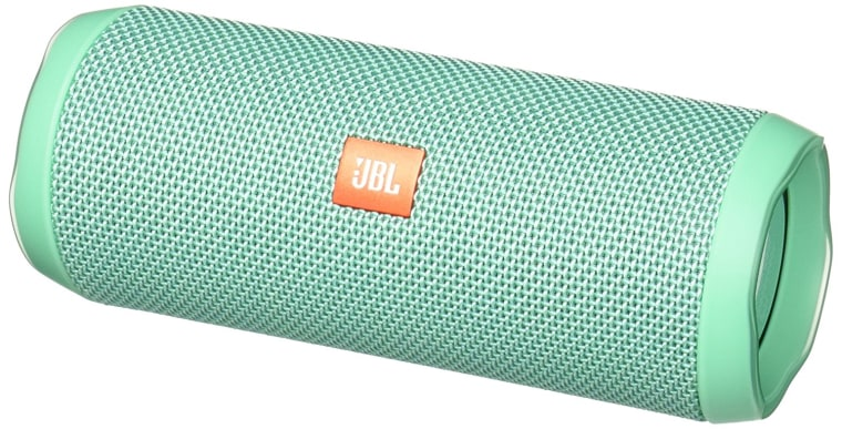 Teal waterproof cylinder speaker