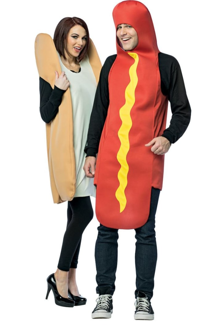 hotdog and bun costume
