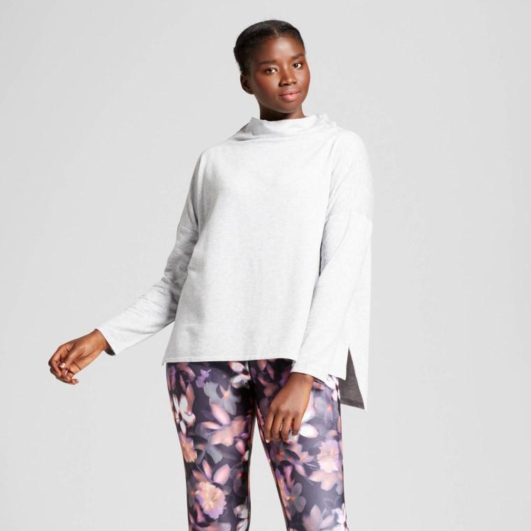 JoyLab Women's Plus Turtleneck Cozy Layering Sweatshirt