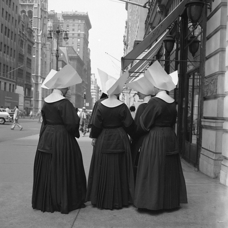 Image: Nuns on New York's Fifth Avenue, circa 1960s.