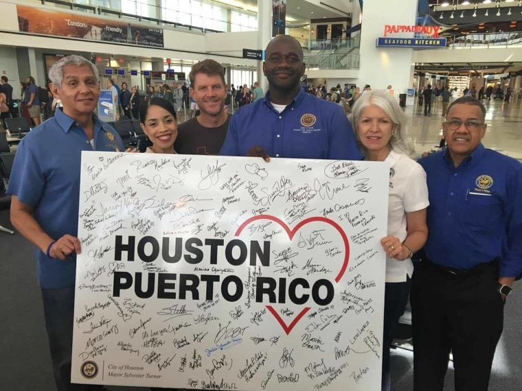 In Texas, Puerto Ricans raise funds and gather supplies to send to Puerto Rico, including medicines and dialysis machines.
