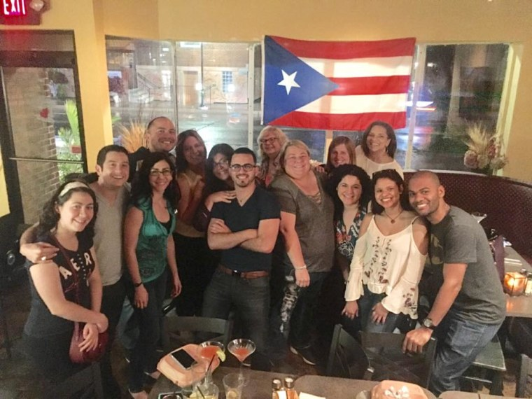 Fundraiser for Hurricane Maria relief October 7, 2017 at Amici's Pizza and Living Room, in Berkley, Michigan organized by some Puerto Ricans living in the Detroit area.