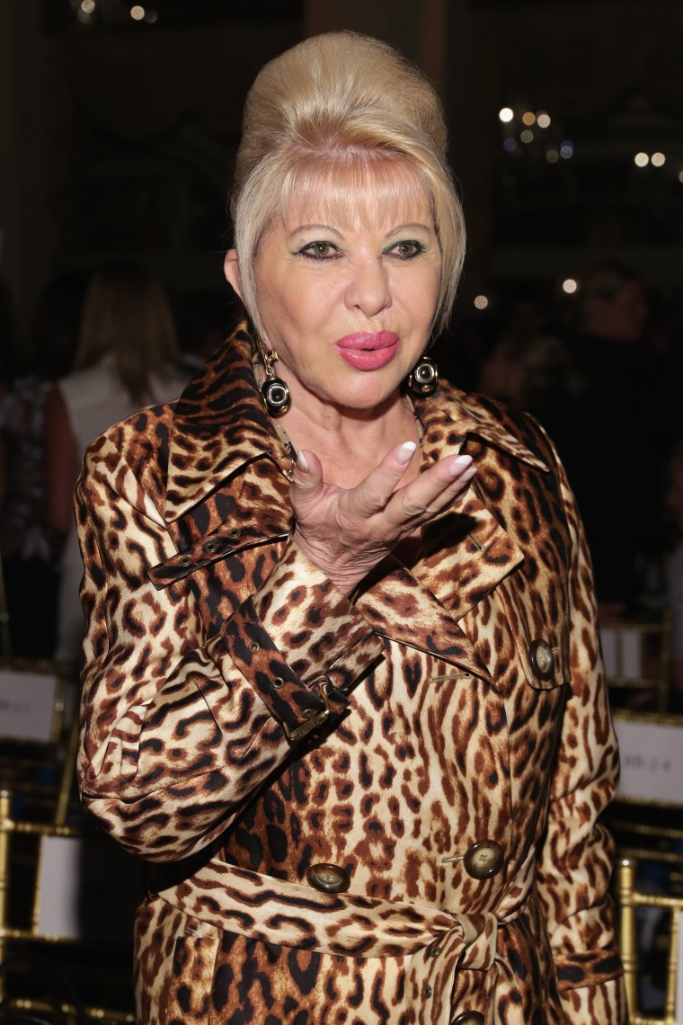 Image: Ivana Trump attends Dennis Basso fashion show during New York Fashion Week, at The Plaza Hotel on Sept. 11, 2017.