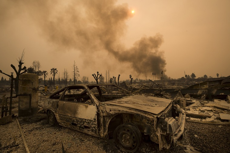 Image: Deadly Fires Hit California Wine Country