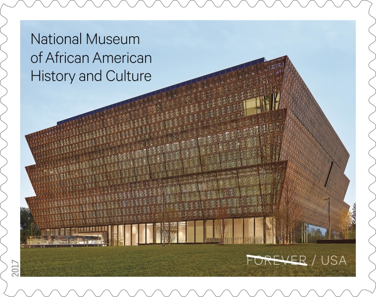 Image: The National Museum of African American History and Culture will be commemorated with a Forever Stamp on Oct. 13, 2017