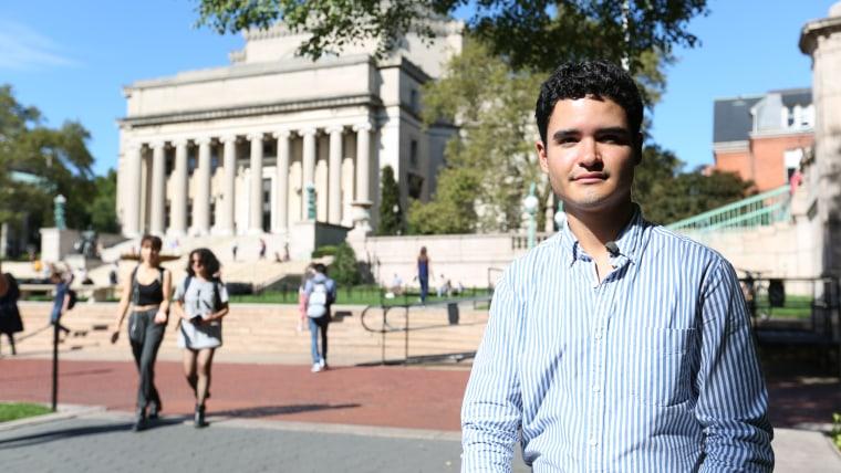 Santiago Tobar Potes on campus at Columbia University.