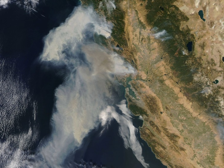 Image: Fires in northern California seen from space