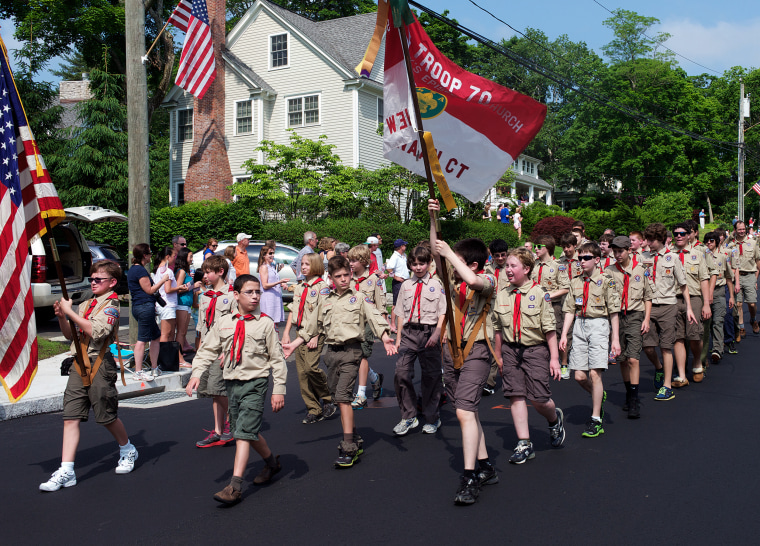Image: Boy Scouts participate in the annual Memorial Day Parade in New Canaan, Connecticut
