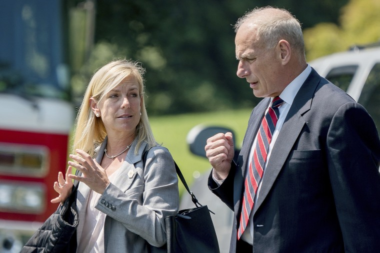 Image: John Kelly and Kirstjen Nielsen