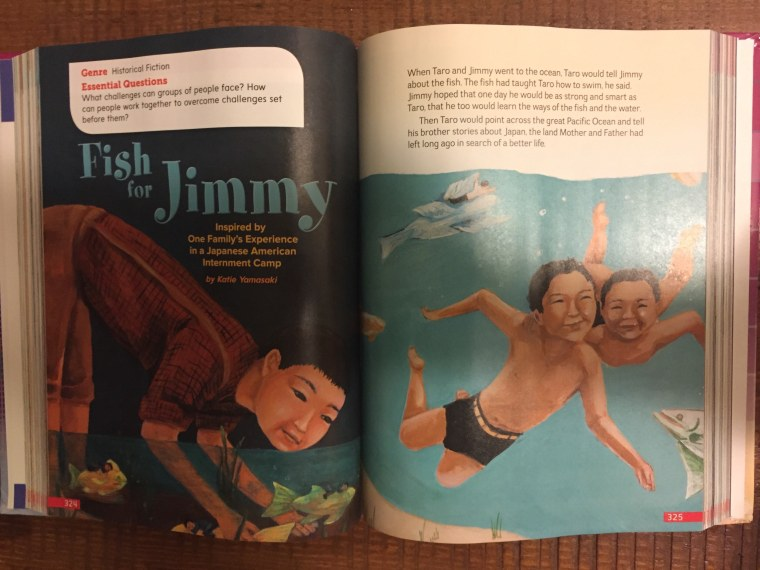 """""""Fish for Jimmy"""" by Katie Yamasaki in McGraw-Hill Education's SRA Open Court Reading, Grade 4 Student Anthology."""