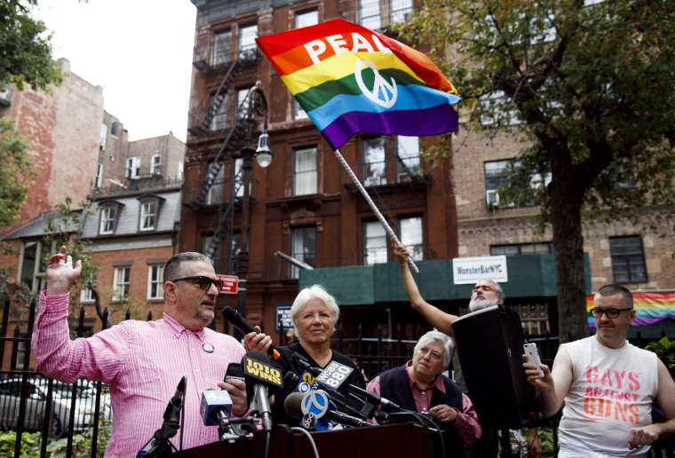 Image: Rainbow Flag Flown Near Stonewall National Momument in New York