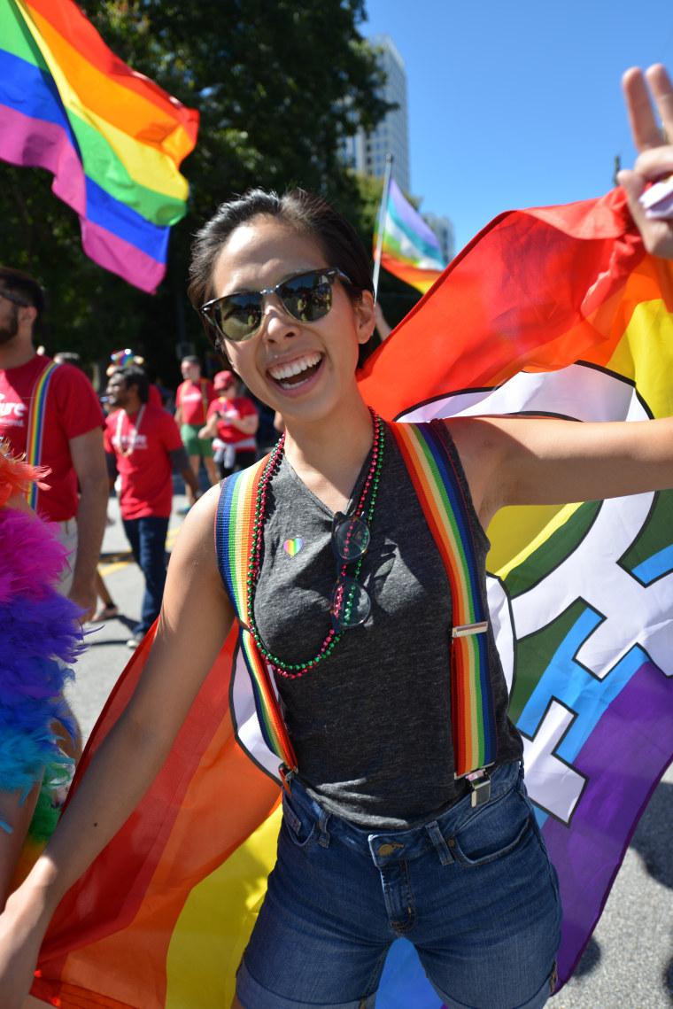 Reveler at the annual Atlanta Pride Festival