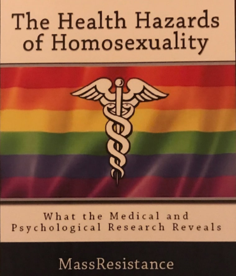 "Pamphlet distributed at Values Voter Summit promoting ""The Health Hazards of Homosexuality"" by Bryan Camenker of Mass Resistance."