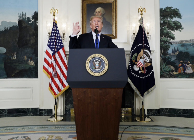 Image: President Donald Trump speaks on Iran policy