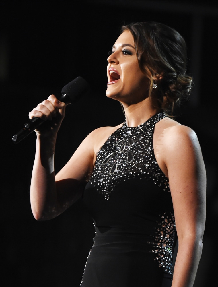 Image: Brooke Axtell speaks onstage during Grammy Awards