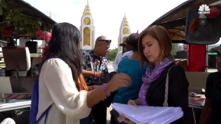 Advocates for deported Cambodian Americans and those facing deportation prepare to meet with government officials in Cambodia in November 2016.