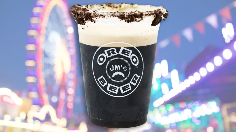 Oreo Beer is being served at the State Fair of Texas