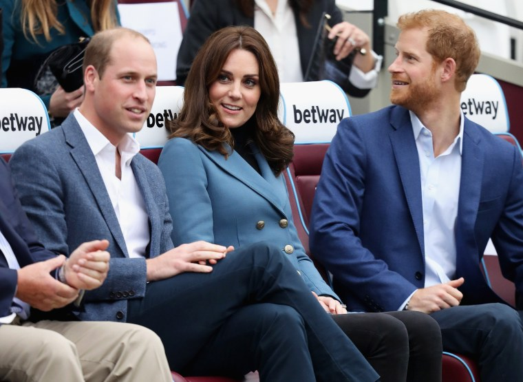 Prince William, Duchess Kate and Prince Harry at a London event in October.