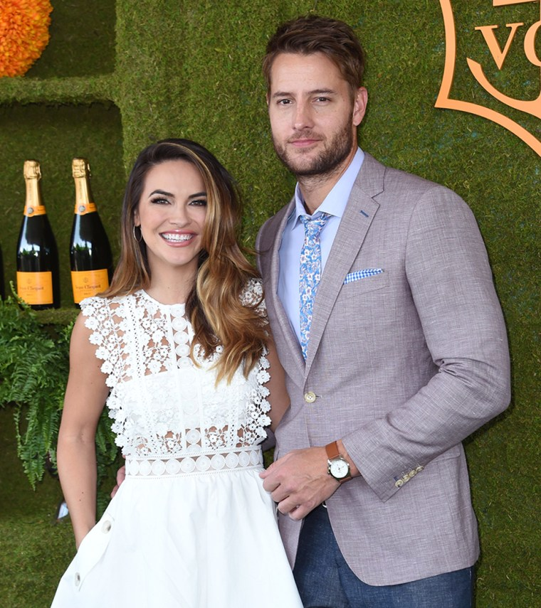 Justin Hartley and fiance Chrishell Stause