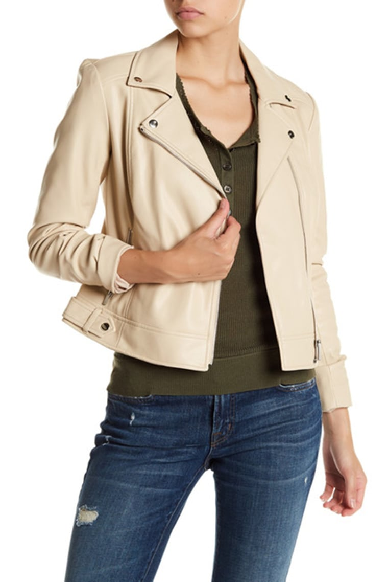 1.State Faux Leather Zip Front Moto Jacket