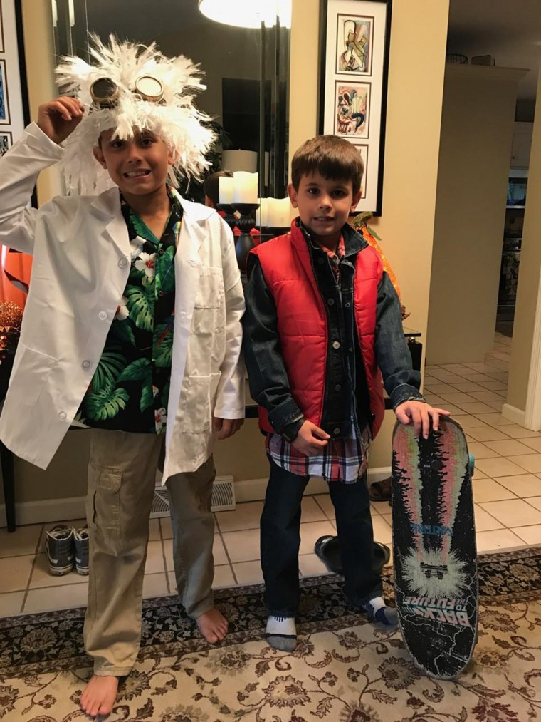 Doc Brown, aka Ben, suffers from food allergies, which can make Halloween tough. But he has learned to swap with Marty McFly, brother Ryan, to make sure he isn't eating candy with allergens in it.