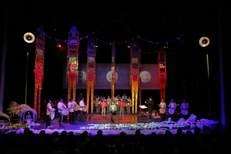 """""""Bangsokol"""" combines live music, film elements, and stage performance to memorialize the victims of the Cambodian genocide."""