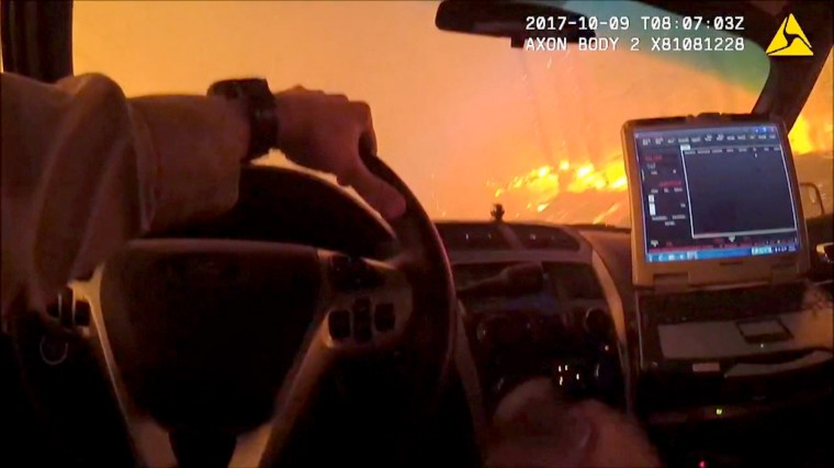 Image: Police Body Cam Wildfire Rescue in Sonoma County