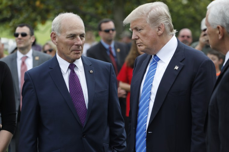 Image: Trump stands with Secretary of Homeland Security John Kelly at Arlington National Cemetery