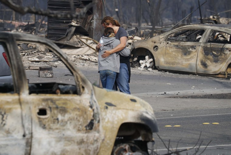Image: Wildfires burn Northern California, leaving at least 15 people dead