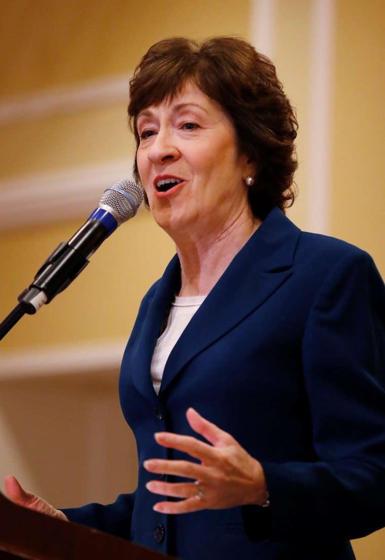 Image: Senator Susan Collins Speaks in Rockport