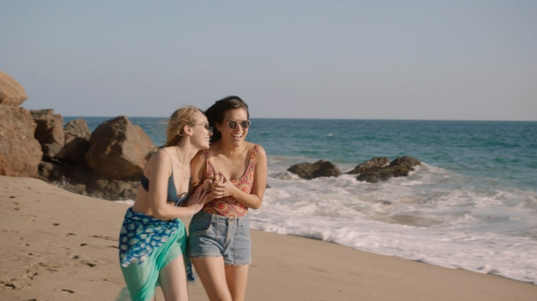 "Meredith Hagner (left) and Zoe Chao play two 20-somethings finding their way in ""Strangers."""