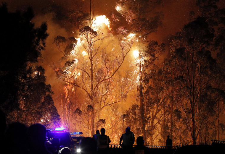 Image: Galicia forest fire