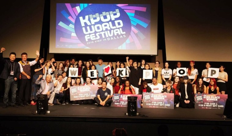 Winners of the Dallas preliminaries of the 2016 K-POP World Festival.