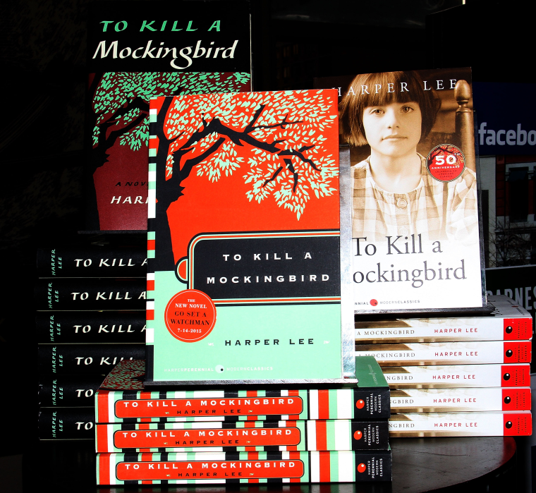 "Image: Harper Lee's  ""To Kill A Mockingbird"" on display at Barnes & Noble"