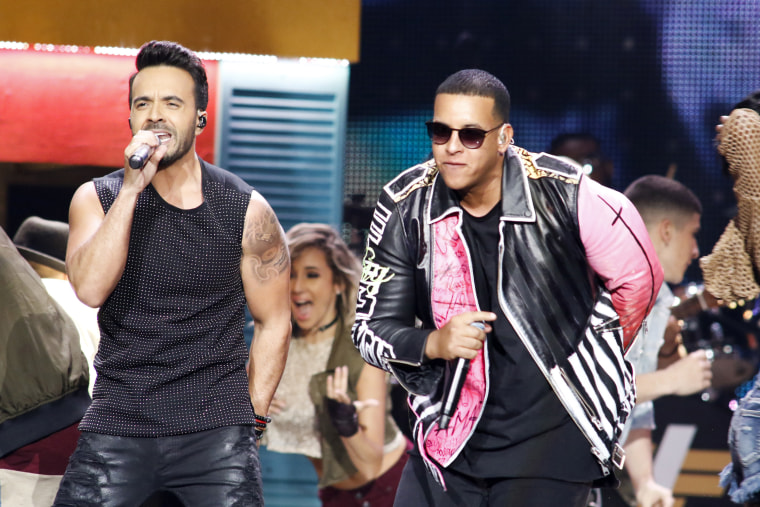 Image: Luis Fonsi, Daddy Yankee perform on stage at the Premios Billboard de la Musica Latina 2017 at the Watsco Center in the University of Miami, Coral Gables, Florida on April 27, 2017.