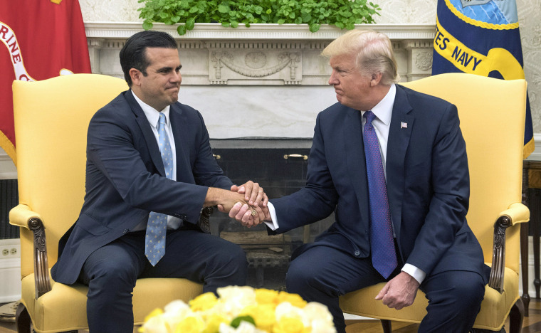 Image: President Trump meets with Governor Ricardo Rossello of Puerto Rico at the White House