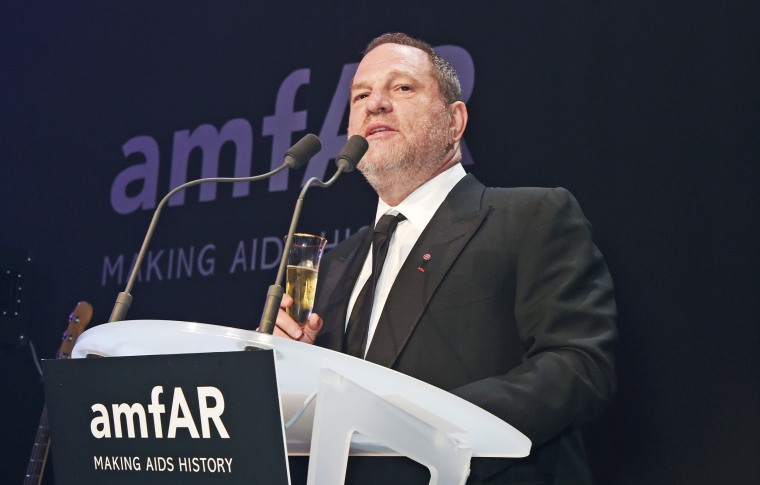 Image: Producer Harvey Weinstein speaks at amfAR's 22nd Cinema Against AIDS Gala