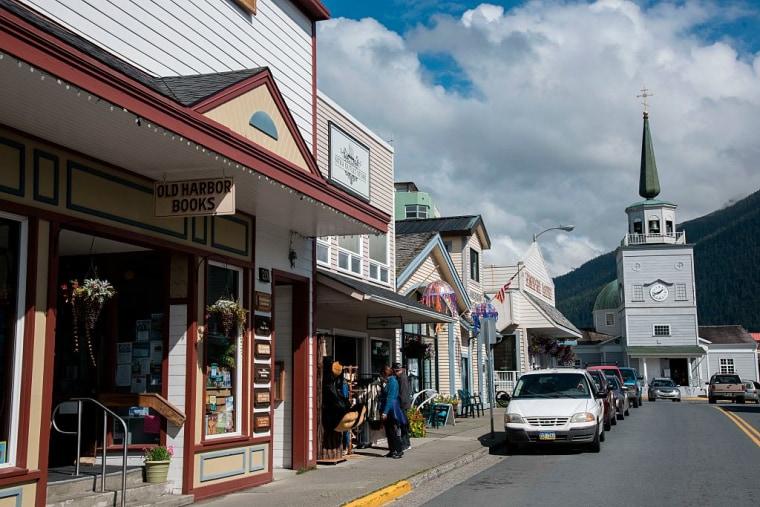 Main street in Sitka, Alaska