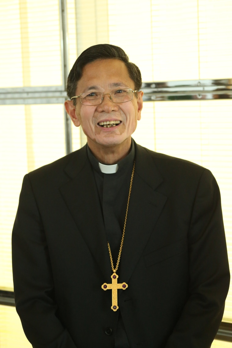 Bishop-elect Thanh Thai Nguyen at a press conference introducing him to the diocese on Friday, October 6 at the Christ Cathedral campus in Garden Grove, California.