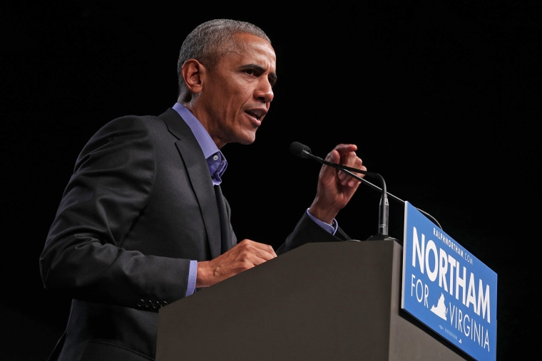 Image: Barack Obama Campaigns With Democratic Gubernatorial Candidate Ralph Northam
