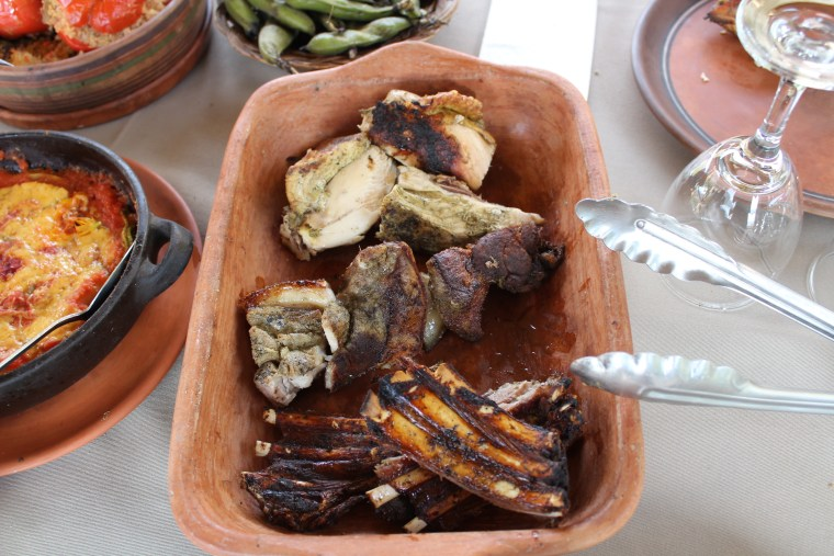 The final 'pachamanca' meal. This one had pork, chicken and lamb ribs.