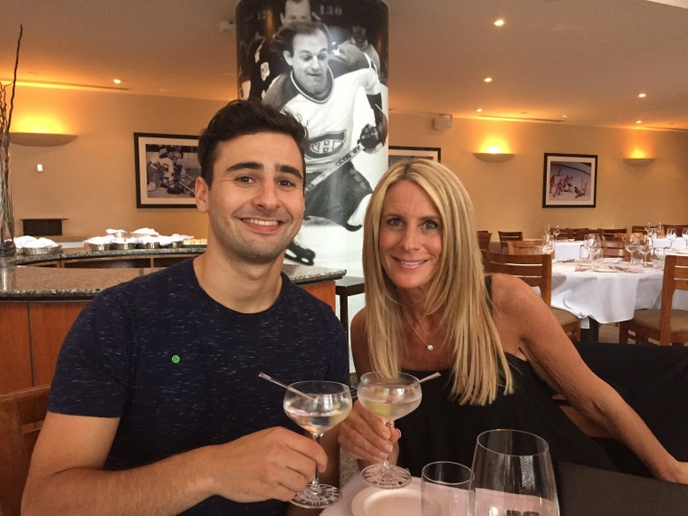 Jesse Glaganov and his mother, Alisa Clamen.