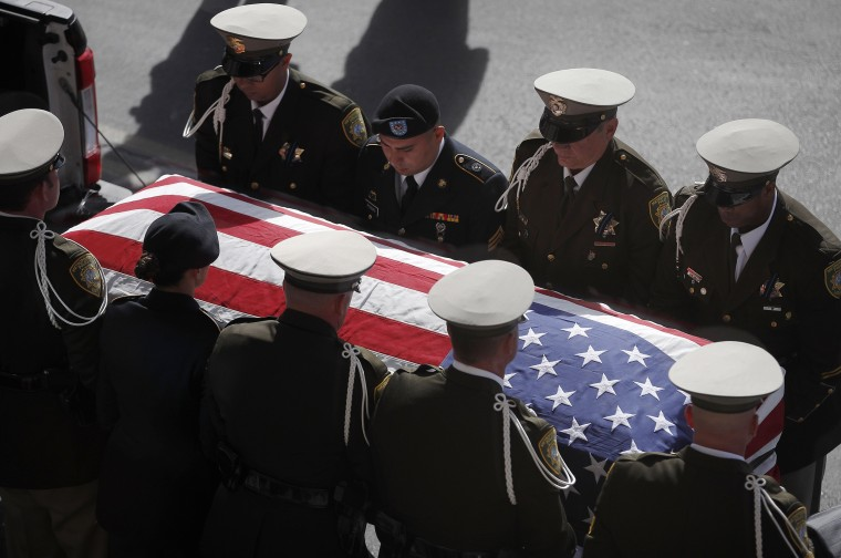 Image: Funeral Held For Las Vegas Police Officer Killed In Shooting Massacre