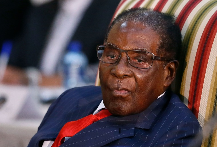 Image: Robert Mugabe pictured in South Africa on Oct. 3.