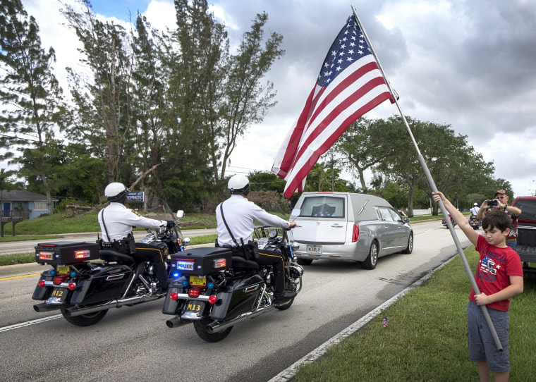 Image: Funeral for Sergeant La David Johnson one of four US soldiers killed in Niger attack