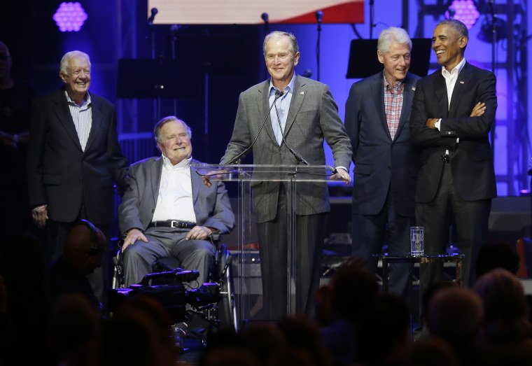 Image: Barack Obama, George Bush, George W. Bush, Jimmy Carter, Bill Clinton