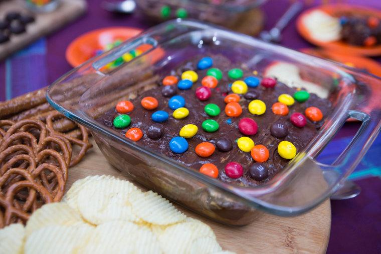Brandi Milloy's 7-Layer Halloween Chocolate Candy Dip