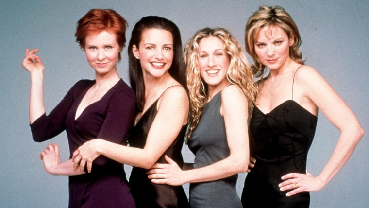 "The cast of ""Sex And The City,"" Season 2 Clockwise from top left: Cynthia Nixon, Kristin Davis, Sarah Jessica Parker and Kim Cattrall. 1999 Paramount Pictures"
