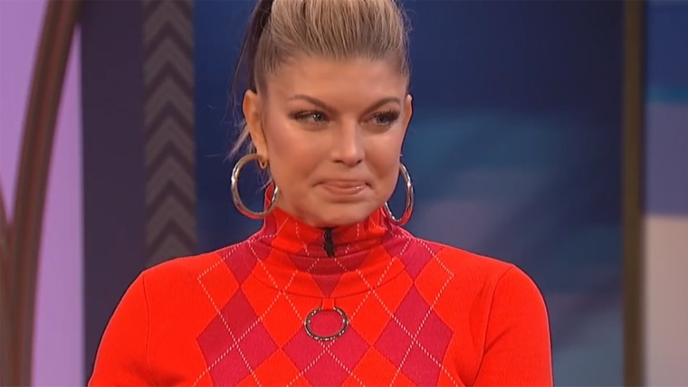 Fergie can't help but tear up while talking about splitting with Josh Duhamel.